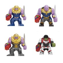 Avengers 4 Endgamer Action Figure Thanos Hulk Iron Man Blocks Compatible Marvel Toy