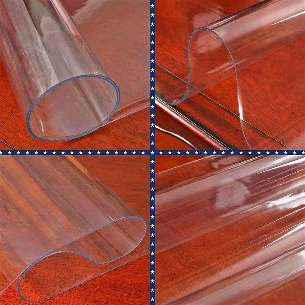 Meubels Tafel Protector Dikke Helder Pvc Tafelkleed Bureau Pad Wipeable Dining Tafelblad Cover Makkelijk Schoon Waterdicht Placemats