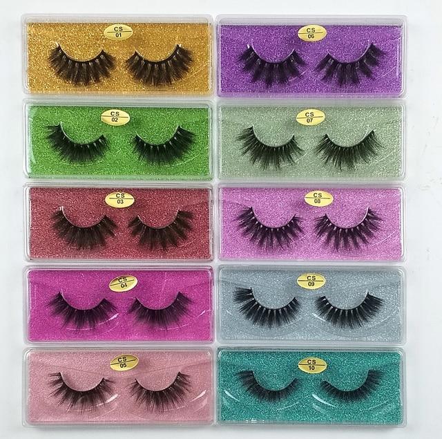 Wholesale Eyelashes 30/40/50/100pcs 3d Mink Lashes Natural Mink Eyelashes Wholesale False Eyelashes Makeup False Lashes In Bulk 1