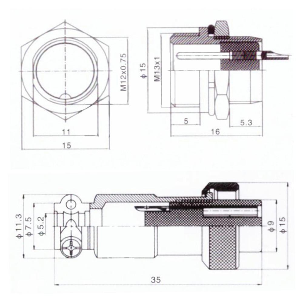 航空插头GX12规格书 (2)