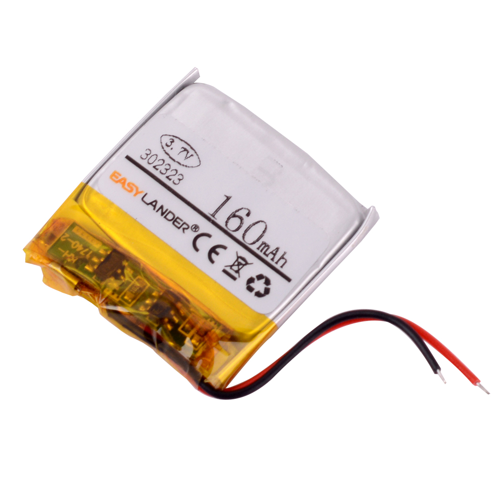 302323 3.7V 160mAh Rechargeable Li-Polymer Li-ion Battery For MP3 MP4 DVR GPS Bluetooth earphone JPRBT3030 AHB302323 032323 image