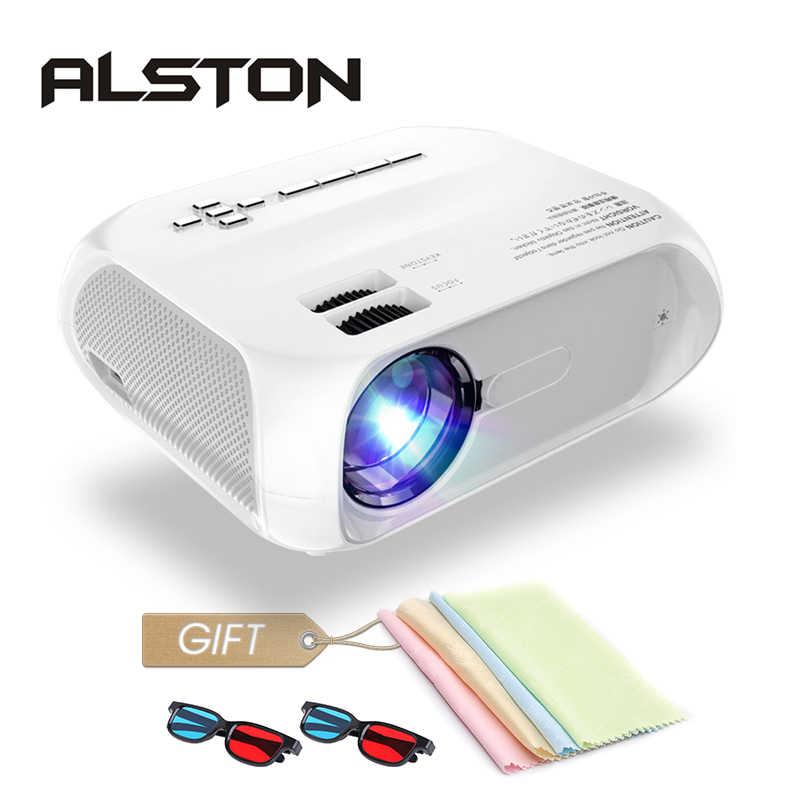 Proyector ALSTON S5 HD led 3800 lúmenes soporte 1080p HDMI USB portátil cine Proyector Beamer con regalo