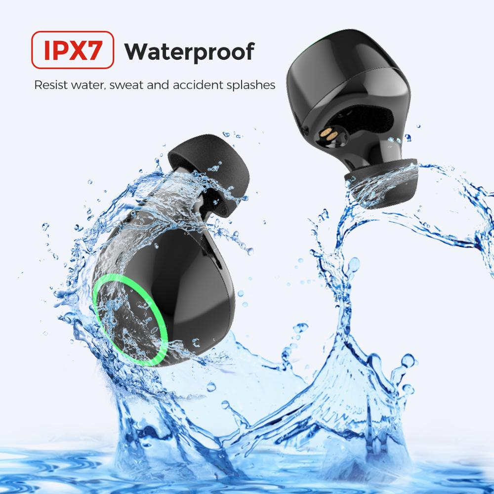 Mpow Updated T6 TWS Wireless Bluetooth 5.0 Earphones ipx7 Waterproof 40h Playing Time Wireless Earbud With Mic For iPhone Huawei