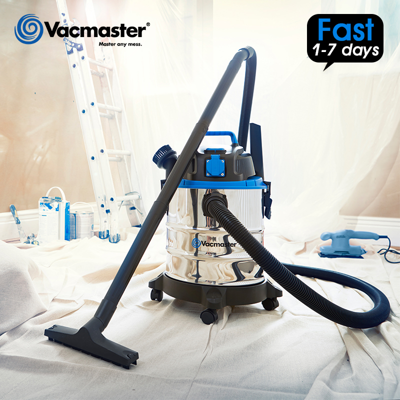 Vacmaster Vacuum-Cleaner Wet Home Tank 20L No Stainless-Steel 18000PA Dry 1250W Low-Noise
