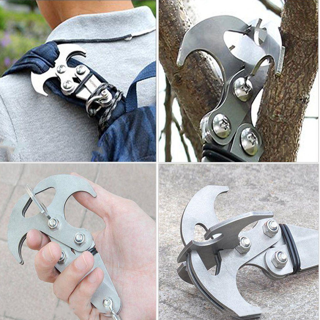 Survival Folding Grappling Hook Outdoor Climbing Claw Accessories Key Chain