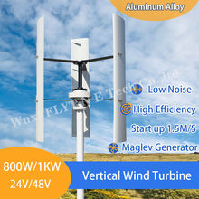 China Fabriek Gratis Energie Windmolen 800W 1000W Verticale As Permanente Maglev Windturbine Generator 24V 48V met Mppt Controller