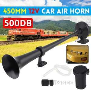 12V Universal Super Loud Air Horn Kit Car Horn Speaker Compressor 17 inch for Truck Boat Train Motorcycle