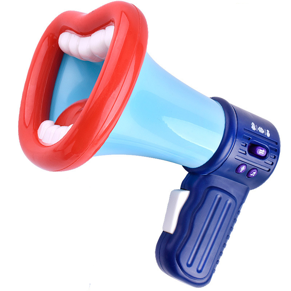 Kids Interactive Toys Electronic Loudspeaker Voice Change Speaker Educational Toys For Children Big Mouth Tooth Speaker Toy