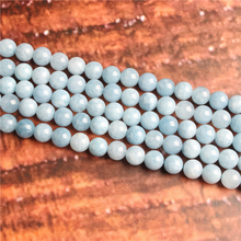 Fashion jewelry 4/6/8/10 / 12mm Aquamarine Dark, suitable for making jewelry DIY bracelet necklace