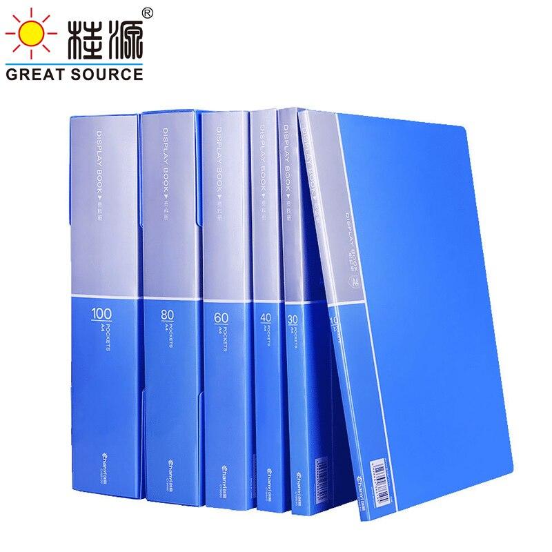 A4 PP Display Book Presentation Book Project Folder 10 Transparent Pockets 5PCS