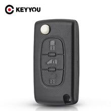 Keyyou ce0523 ce0536 substituição para fiat scudo hu83/va2 lâmina flip dobrável remoto caso chave do escudo fob 3 botões estilo do carro