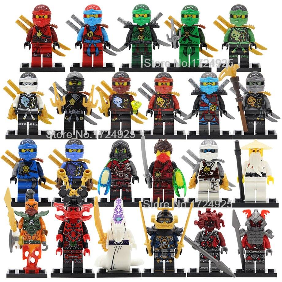 Única figura ninja nya kai wu krux lloyd kozu wei cobra samuraix verme nadakhan blocos de construção conjunto tijolos brinquedos legoing
