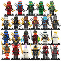 Single Ninja Figure Nya KAI Wu Krux Lloyd Kozu Wei Snake SamuraiX Vermin Nadakhan Building Blocks Set Bricks Toys Legoing