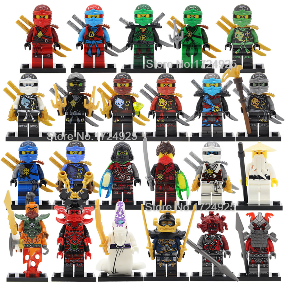 Single Ninja Figure Nya KAI Wu Krux Lloyd Kozu Wei Snake SamuraiX Vermin Nadakhan Building Blocks Set Bricks Toys Legoing