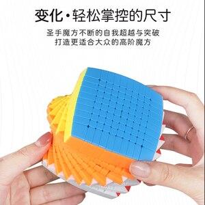 Image 4 - Neueste Magie Puzzle 10x10 Shengshou 10x10x10 Cubing Geschwindigkeit Stickerless 85mm professional Cubo Magico hohe Spielzeug für Kinder