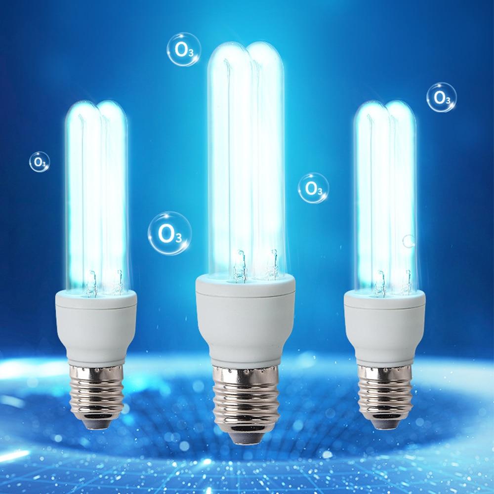 E27 UVC Ultraviolet UV Light Tube Bulb Disinfection Lamp Ozone Sterilization Mites Lights Germicidal Lamp Bulb 110V 220V 20-36W