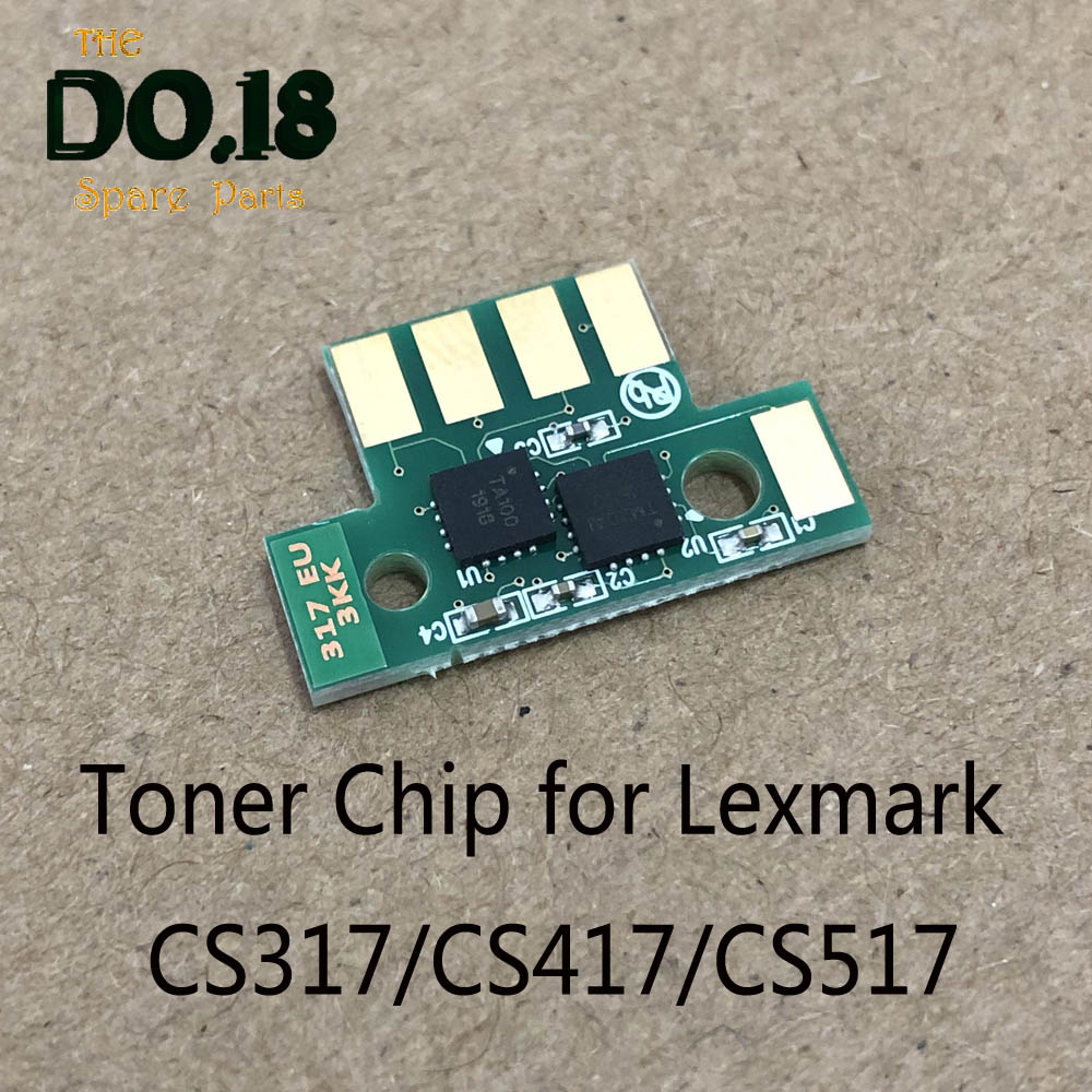 1X Compatible Toner Chip For Lexmark CS317 CS417 CS517 CX317 CX417 CX517 CS317dn CX417de 71B20K0 71B20C0 71B20 Color Toner Chip