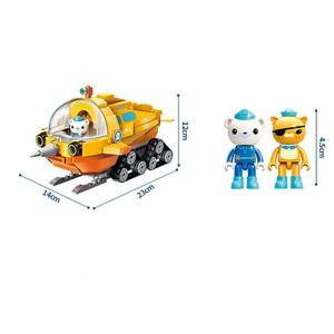 Image 5 - Genuíno octonauts narval barco bloco de construção brinquedos educativos diy montado navio pequenas partículas blocos tijolos crianças brinquedo