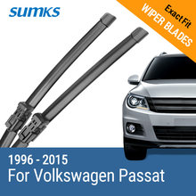 SUMKS Wiper Blades for Volkswagen Passat B5 B6 B7 Fit Hook / Side Pin / Push Button Arms From 1996 to 2015(China)