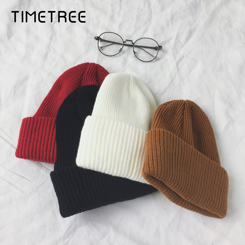 Fashion Beanies Women 2019 Solid Knitted Warm Soft Trendy Hats Simple Korean Style Womens Wool Casual Caps Elegant Beanies Beret