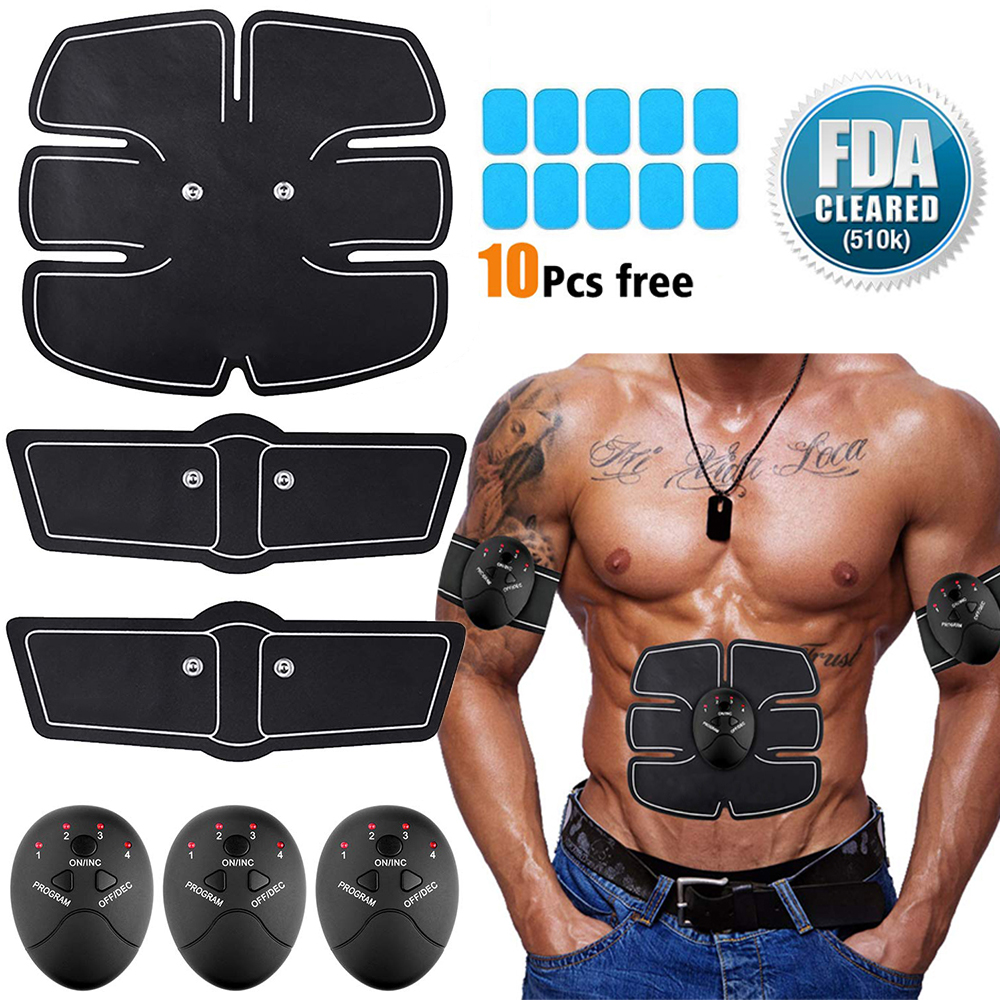 EMS Muscle Stimulation Trainer Electric Smart Fitness Abdominal Training Equipment Weight Loss Body Slimming Belt Unisex D40