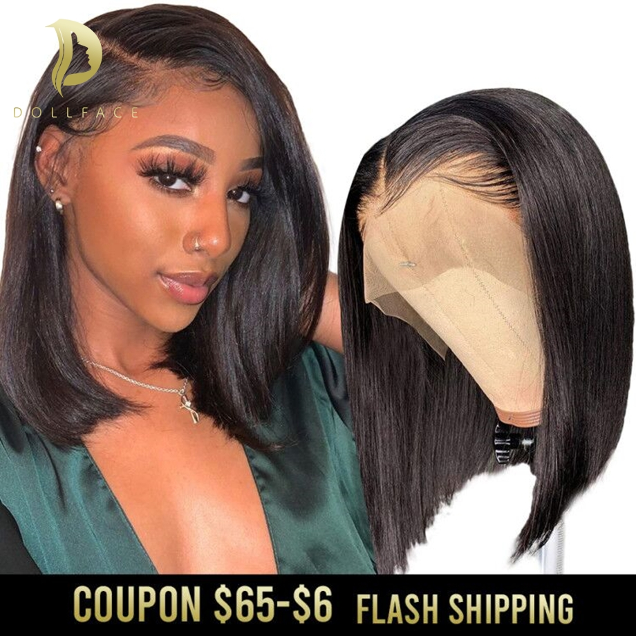 Short Bob Wig Straight Afro Lace Front Human Hair Wigs For Black Women Full Natural Brazilian Remy Preplucked Hd Frontal Hair