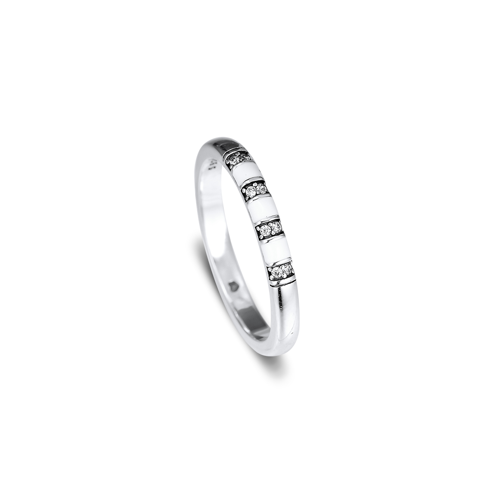 Summer New Fashion Ring STONES AND STRIPES RING Sterling Silver Jewelry For Woman Jewelry Make Up Fashion Jewelry Rings
