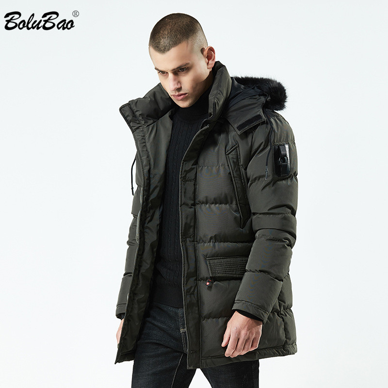 BOLUBAO Men Parkas Coats Winter Male Hooded Jackets Casual Thicken Brand Parka Coat Men's Fashion Long Section Warm Parkas