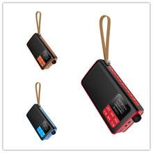цена на FM radio bluetooth speaker Mini Portable Radio Handheld Digital FM USB TF MP3 Player Speaker Rechargeable