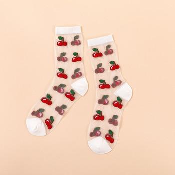 Novelty Harajuku New Product Crystal Silk Tide Socks Funny Sunflowers Vines Flowers Happy Women Socks Casual High Quality Sox 19