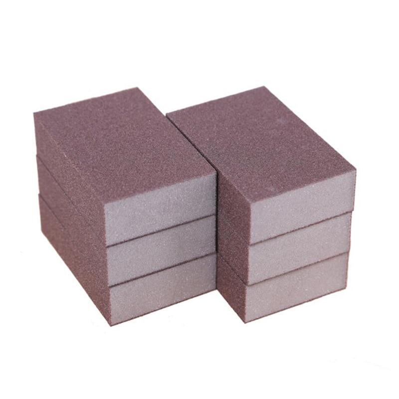 Wholesale Kitchen Sponge Sanding Block Wood Crafts Model Paint Polishing Sponge Abrasive Paper Polishing Amber Mahogany