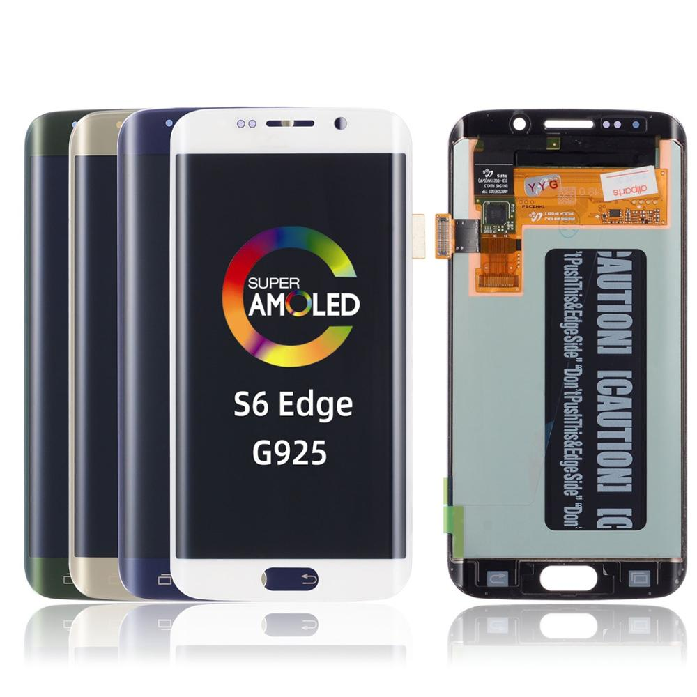 Replacement G925 G925 Lcd <font><b>Display</b></font> Frame For <font><b>Samsung</b></font> <font><b>S6</b></font> <font><b>Edge</b></font> With Frame With Frame <font><b>Original</b></font> <font><b>Display</b></font> For <font><b>Samsung</b></font> <font><b>S6</b></font> <font><b>Edge</b></font> Lcd image