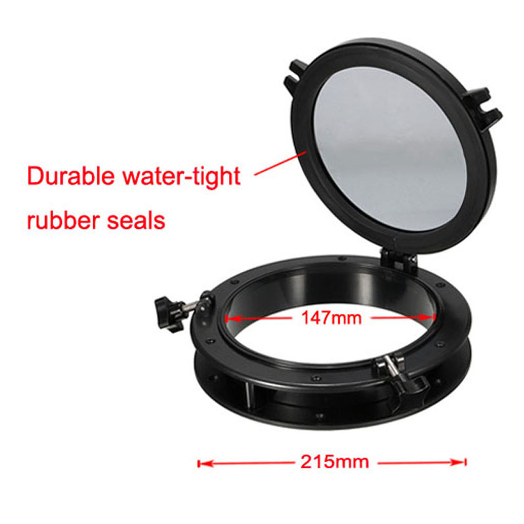Boat Porthole Round Marine Port Hole/Window Porthole Nautical/Marine/Navy/Yacht 4mm Tempered Glass Boat Accessories Marine