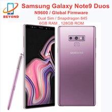 Samsung galaxy note9 nota 9 duplo sim n9600 telefone móvel 128gb rom 6gb ram lte octa núcleo 6.4 polegadas nfc original snapdragon 845