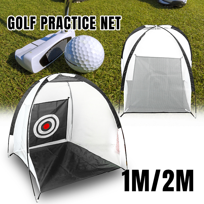 1m/2m Golf Cage Training Aids Swing Hitting Practice Net Indoor Outdoor Sport Golf Exercise Equipment Trainer Golf Tool