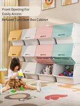 Joybos caixa de armazenamento casa frente abertura conveniente estável espessamento brinquedos das crianças lanches caixa de armazenamento de brinquedo armário de armazenamento jx19