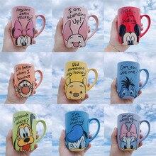 1 шт 500 мл Дисней Микки Минни мультфильм керамическая чашка для воды кофе молоко кружка домашний офис Коллекция чашки Женщины Девушки Подарки