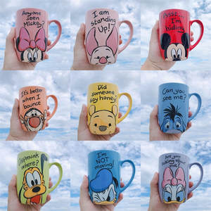 Disney Cups Collection Milk-Mug Water-Cup Ceramic Coffee Girl Minnie Cartoon Office 500ml