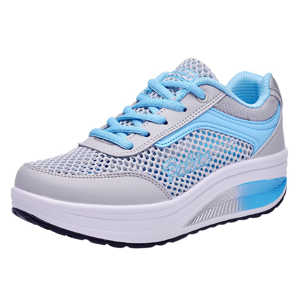 SAGACE 2019 Fashion Sneakers Women Casual Shoes Women Mesh Breathable Sneakers Female Lace-Up Casual Shoes Student Shoes Sports