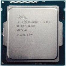 إنتل زيون E3 1246 v3 8M مخبأ 3.5 GHz SR1QZ LGA1150 E3 1246 v3 معالج وحدة المعالجة المركزية