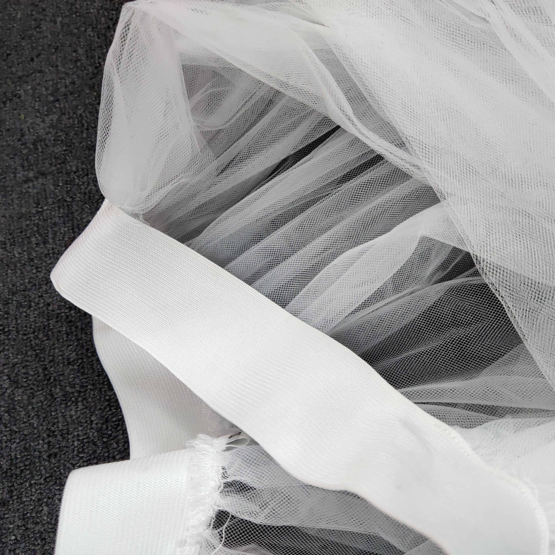 Blanco negro sobrefalda de tul Maxi tutú falda de tul malla Jupes de verano para mujer todos los partido cintura elástica desmontable Saia de talla grande 2020