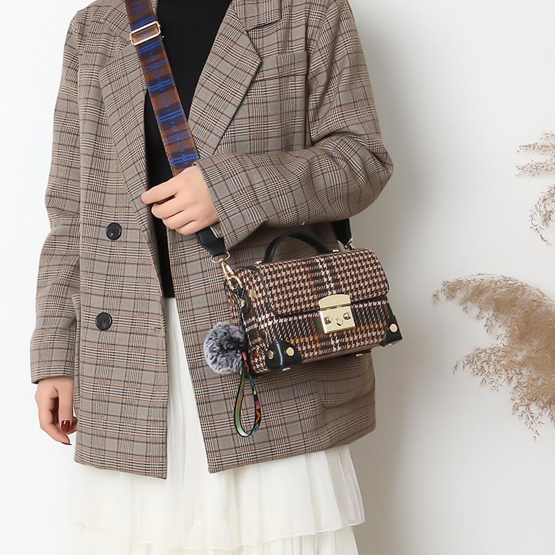 couro sólido pingente tote bolsa ombro moda
