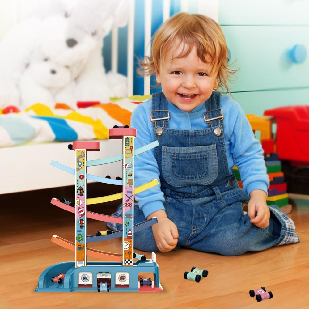 DIY трек 3D гоночный автомобиль трек игрушки Автостоянка сборная железнодорожная машина игрушка DIY слот модель игрушки для детей подарки на д...