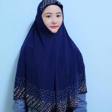 Prayer Garment Crystal Niqab Hijabs-Cap Khimar Muslim Women New Diamonds 90x80cm Glass
