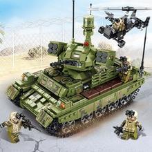 цена на Iron Blood Reloaded Compatible Legoing Tank Model Kit Modern Military Boy Educational Assembled Building Blocks Children Toy P42