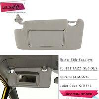 ZUK 자동차 좌측 운전자 측 Sunvisor Sunshade Sun Shield Antidazzle Visor For HONDA FIT JAZZ 2009 2010 2011 2012 2013 2014 GE6 GE8