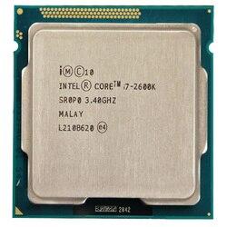 Intel Core i7-2600k i7 2600k dört çekirdekli CPU 3.4 GHz/95 W/LGA1155 masaüstü işlemci