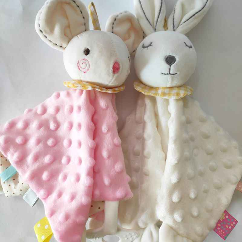 Soft Newborn Baby Plush Appease Towel Infant Comforter Doll Toy Animal Pattern Backing Blanket