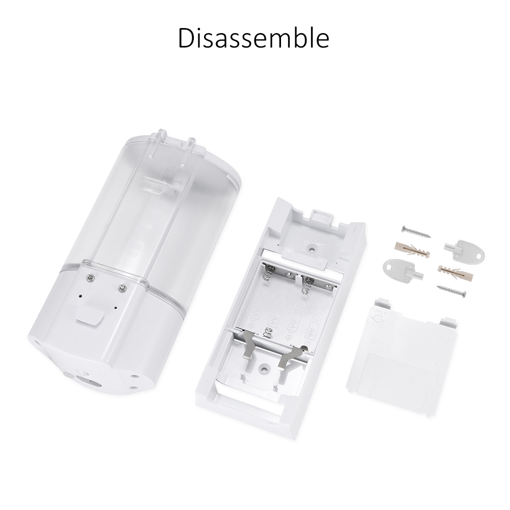 Hd690d7c07356499d925245ed480a50b6J 400ml Automatic Soap Dispenser Touchless Sensor Hand Sanitizer Shampoo Detergent Dispenser Wall Mounted For Bathroom Kitchen