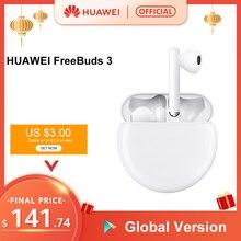 Auf Lager Original HUAWEI FreeBuds 3 FreeBuds3 Bluetooth Kopfhörer TWS Drahtlose Kopfhörer Kirin A1 Chip 20 Stunden ANC Funktion